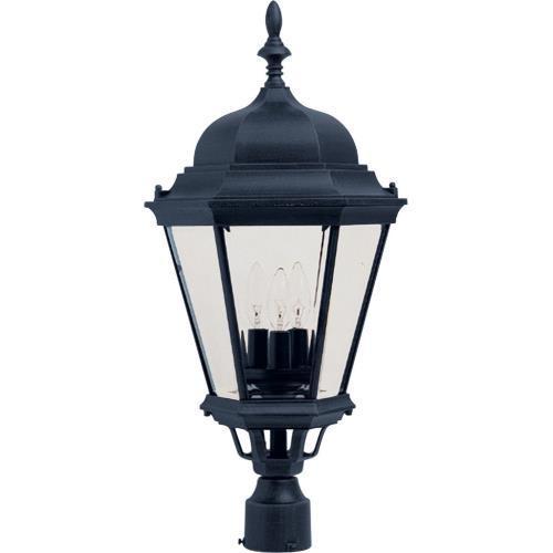 Maxim Lighting 1007BK Westlake - Three Light Outdoor Pole/Post Mount