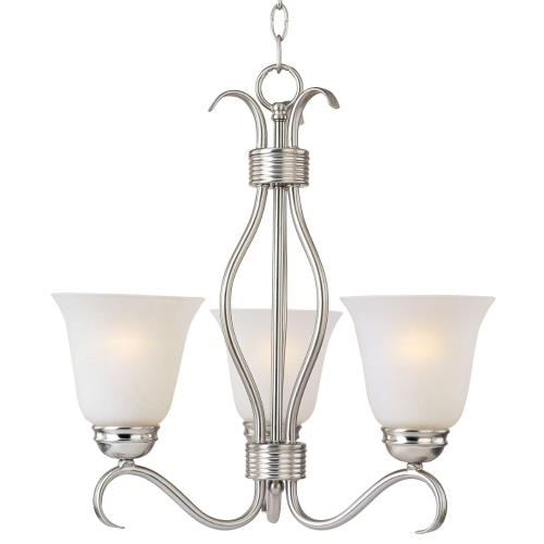 Maxim Lighting 10123ICSN Basix-Three Light Chandelier in Contemporary style-15.75 Inches wide by 18.5 inches high