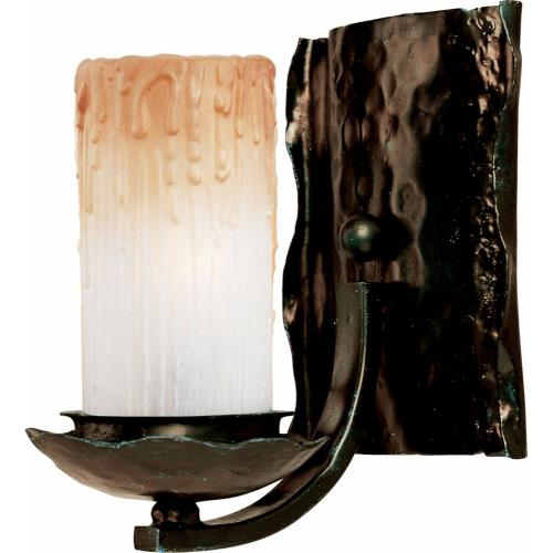 Maxim Lighting 10970WSOI Notre Dame-1 Light Wall Sconce in Mediterranean style-7.5 Inches wide by 8 inches high