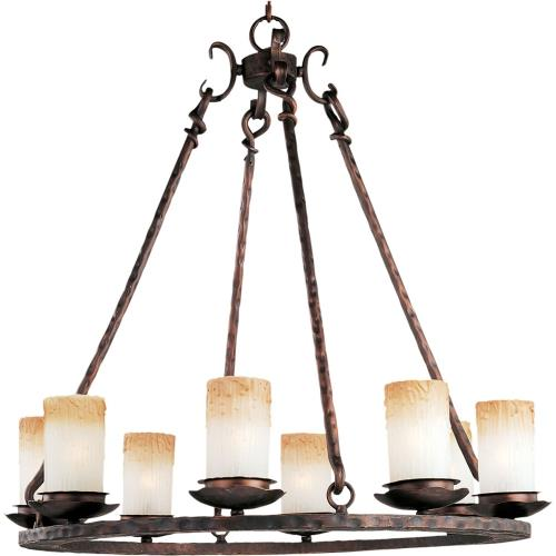 Maxim Lighting 10976WSOI Notre Dame-8 Light Chandelier in Mediterranean style-29.5 Inches wide by 30.5 inches high