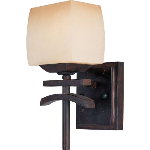 Maxim Lighting 10996WSRC Asiana-1 Light Wall Sconce in Far East style-5.5 Inches wide by 12 inches high