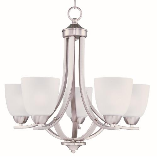 Maxim Lighting 11225FTSN Axis-Five Light Chandelier in Transitional style-24 Inches wide by 20.5 inches high