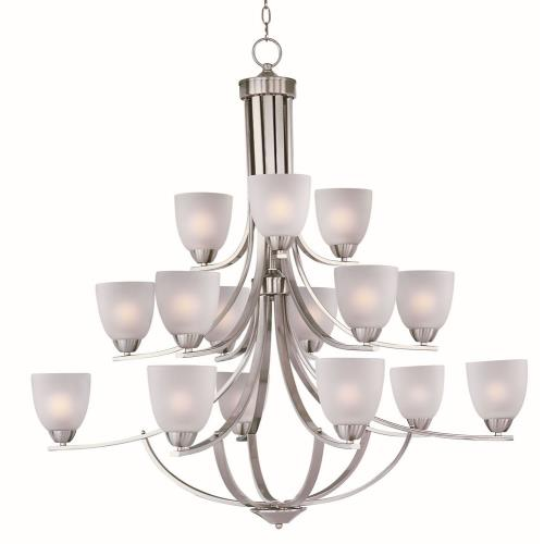Maxim Lighting 11228FT Axis-Fifteen Light 3-Tier Chandelier in Transitional style-43 Inches wide by 40.25 inches high