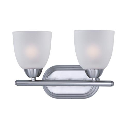Maxim Lighting 11312FTPC Axis-2 Light Transitional Bath Vanity in Transitional style-13 Inches wide by 8.5 inches high