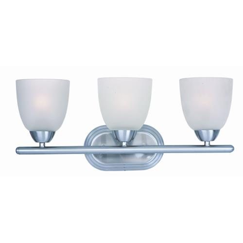 Maxim Lighting 11313FTPC Axis-3 Light Transitional Bath Vanity in Transitional style-21 Inches wide by 8.5 inches high