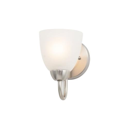 Maxim Lighting 11381FTSN Axis-1 Light Bath Vanity in Transitional style-5 Inches wide by 7.63 inches high