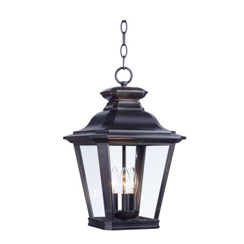 Maxim Lighting 1139CLBZ Knoxville - 3 Light Outdoor Pendant in Commodity style - 11 Inches wide by 17.5 inches high