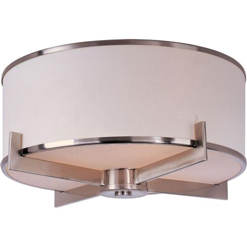 Maxim Lighting 12050WTSN Nexus-Three Light Flush Mount in Contemporary style-17.5 Inches wide by 8.75 inches high