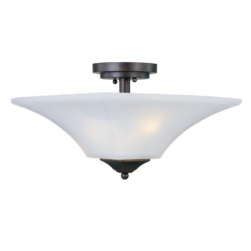 Maxim Lighting 20091 Aurora-2 Light Semi-Flush Mount in Contemporary style-13 Inches wide by 9 inches high