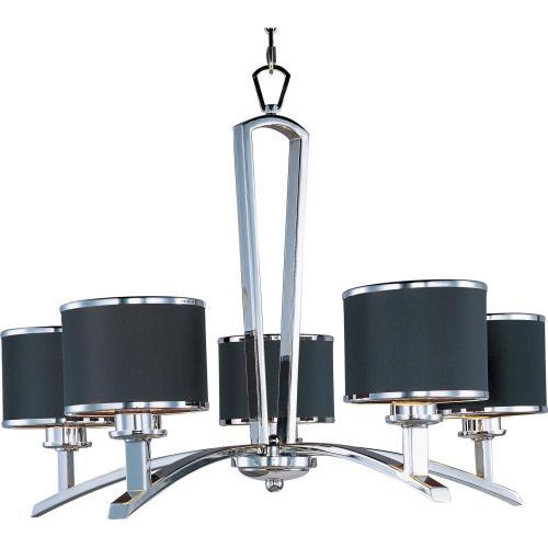 Maxim Lighting 20375BKPC Salon - Five Light Chandelier