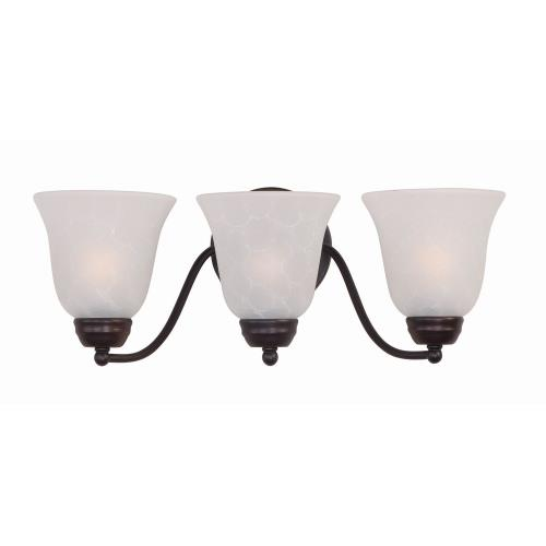 Maxim Lighting 2122I Basix-3 Light Contemporary Bath Vanity in Contemporary style-19 Inches wide by 8 inches high