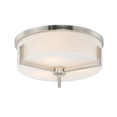 Maxim Lighting 21280SW Dart-Three Light Flush Mount-14 Inches wide by 5.5 inches high