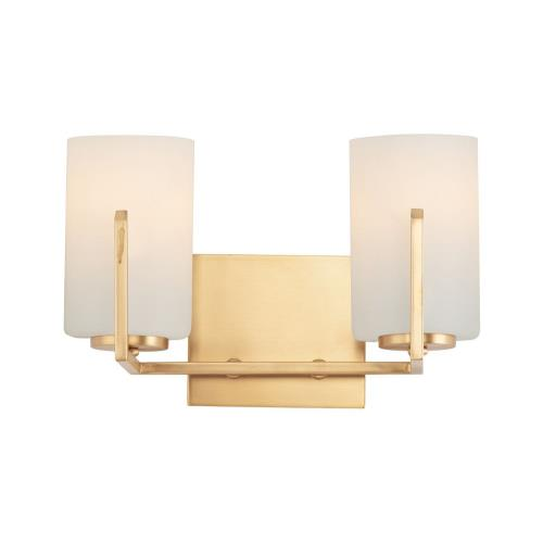 Maxim Lighting 21282SW Dart-2 Light Bath Vanity-12.5 Inches wide by 7.75 inches high