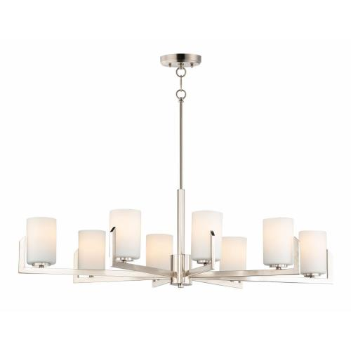 Maxim Lighting 21288SW Dart-Eight Light Chandelier-28 Inches wide by 13.5 inches high