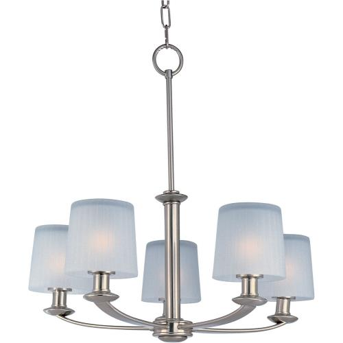 Maxim Lighting 21505FTSN Finesse-Five Light Chandelier in Transitional style-25.5 Inches wide by 24.25 inches high