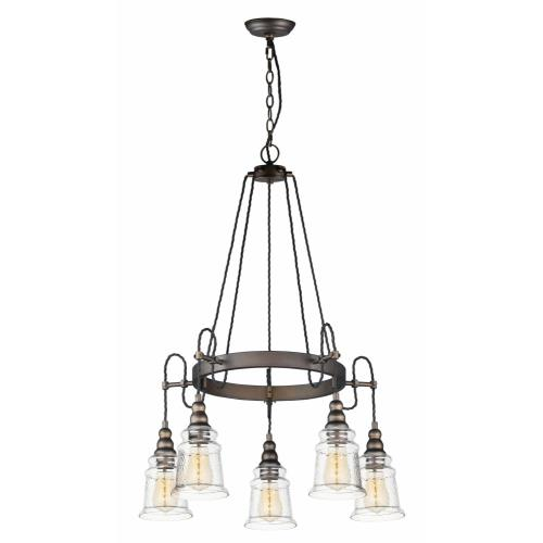 Maxim Lighting 21575HMOI Revival - 5 Light Chandelier in Mediterranean style - 26.5 Inches wide by 34 inches high