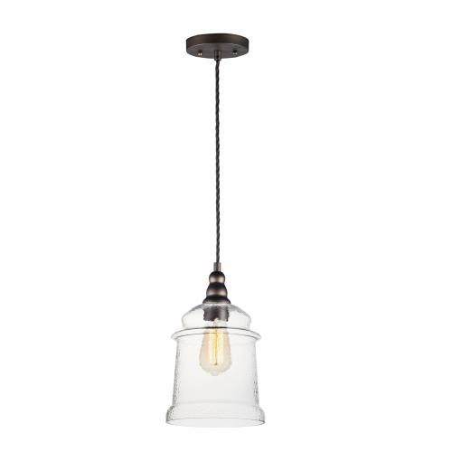 Maxim Lighting 21579HMOI Revival-One Light Mini Pendant-7.75 Inches wide by 12.5 inches high