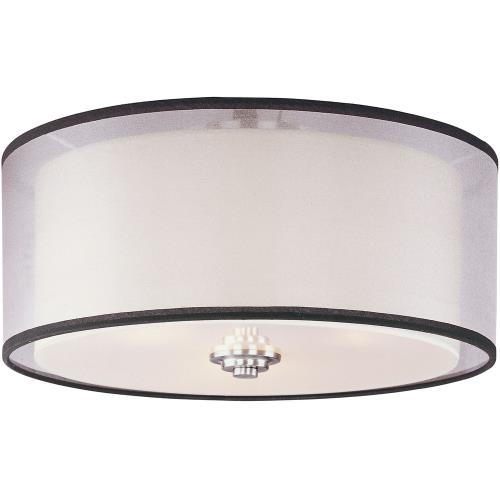 Maxim Lighting 23031SWSN Orion-Three Light Flush Mount in Modern style-15 Inches wide by 7 inches high