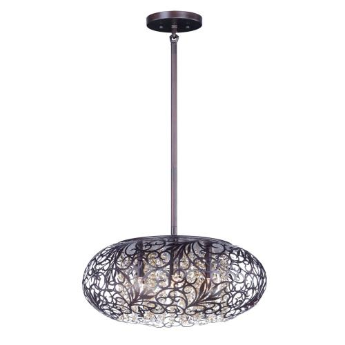 Maxim Lighting 24155CGOI Arabesque-Nine Light Pendant in Crystal style-24 Inches wide by 12 inches high