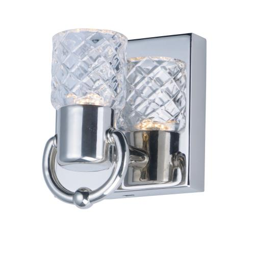 Maxim Lighting 24701CLPN Crystol - 4.5W 1 LED Wall Sconce - 4.75 Inches wide by 5.75 inches high