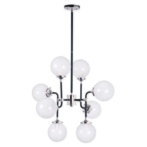 Maxim Lighting 24725WTBKPN Atom-Eight Light Pendant-28 Inches wide by 22.75 inches high