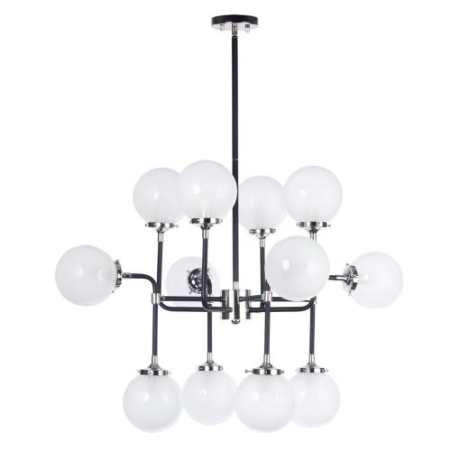 Maxim Lighting 24727WTBKPN Atom-Twelve Light Pendant-36 Inches wide by 25.75 inches high