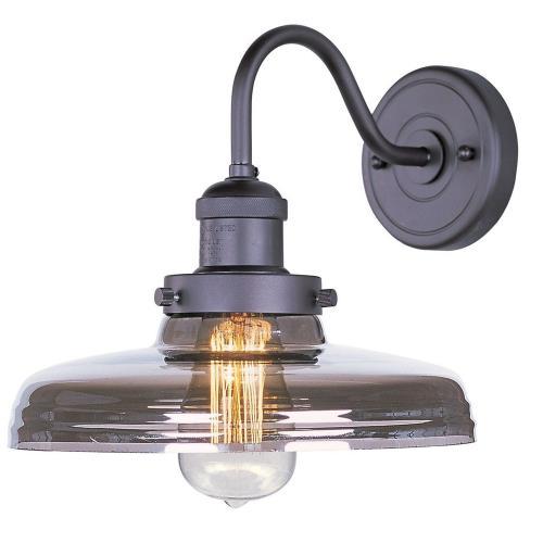 Maxim Lighting 25087MSKBZ Mini Hi-Bay - One Light Wall Sconce