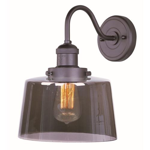 Maxim Lighting 25089MSKBZ Mini Hi-Bay-One Light Wall Sconce in Mediterranean style-8.75 Inches wide by 11.75 inches high