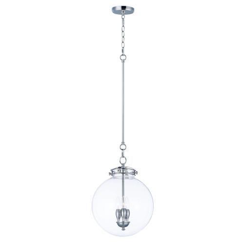 "Maxim Lighting 25183CLPN Retro - 14"" Three Light Pendant"