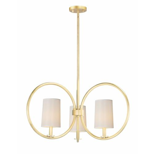 Maxim Lighting 25293 Meridian-3 Light Chandelier-30 Inches wide by 14.5 inches high
