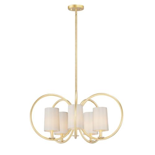 Maxim Lighting 25295 Meridian - 5 Light Chandelier in Early American style - 30.5 Inches wide by 14.5 inches high