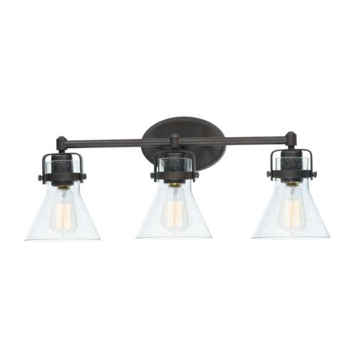 Maxim Lighting 26113CDOI Seafarer 3 Light  Bath Vanity Approved for Damp Locations