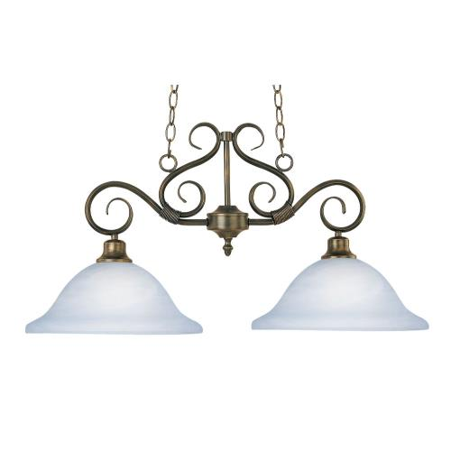 Maxim Lighting 2651MRKB Pacific-2 Light Linear Pendant in Transitional style-13 Inches wide by 16 inches high