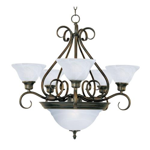 Maxim Lighting 2656 Pacific-7 Light 2-Tier Chandelier in Transitional style-27 Inches wide by 28 inches high