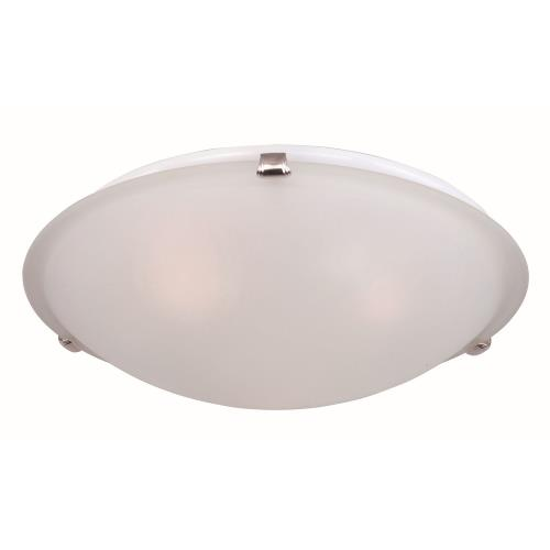 Maxim Lighting 2681FTSN Malaga-Three Light Flush Mount in Transitional style-16 Inches wide by 4 inches high