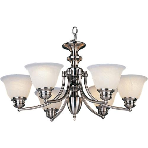 Maxim Lighting 2684 Malaga-6 Light Chandelier in Transitional style-26 Inches wide by 16.5 inches high
