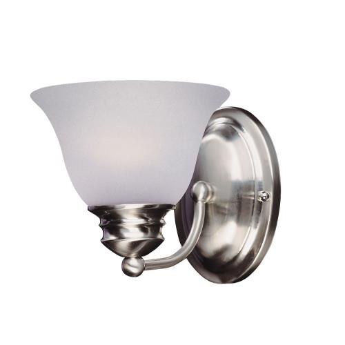 Maxim Lighting 2686FTSN Malaga-One Light Wall Sconce in Transitional style-6 Inches wide by 6.5 inches high