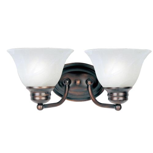 Maxim Lighting 2687 Malaga-2 Light Bath Vanity in Transitional style-13.25 Inches wide by 6 inches high