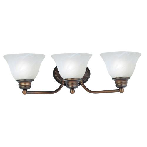Maxim Lighting 2688 Malaga-3 Light Bath Vanity in Transitional style-19.5 Inches wide by 6 inches high
