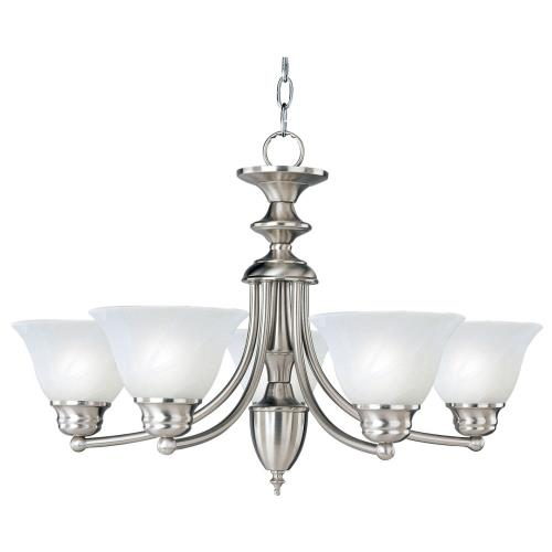 Maxim Lighting 2699 Malaga-5 Light Chandelier in Transitional style-25 Inches wide by 16 inches high