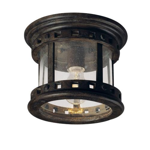 Maxim Lighting 3130 Santa Barbara DC-One Light Outdoor Flush Mount in Craftsman style-9 Inches wide by 7 inches high