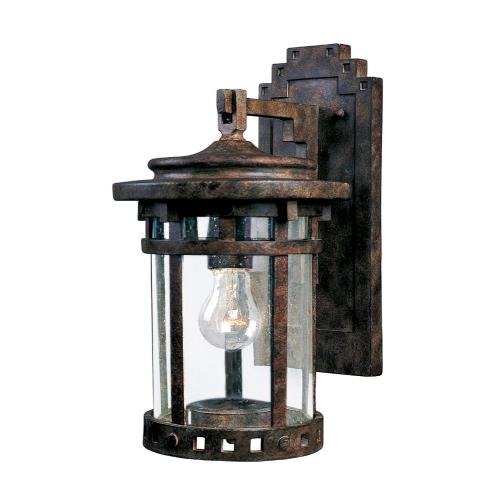Maxim Lighting 3133 Santa Barbara DC-One Light Outdoor Wall Mount in Craftsman style-7 Inches wide by 13 inches high