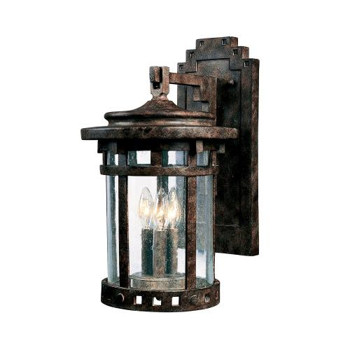 Maxim Lighting 3135CDSE Santa Barbara DC-3 Light Outdoor Wall Lantern in Craftsman style-11 Inches wide by 20 inches high