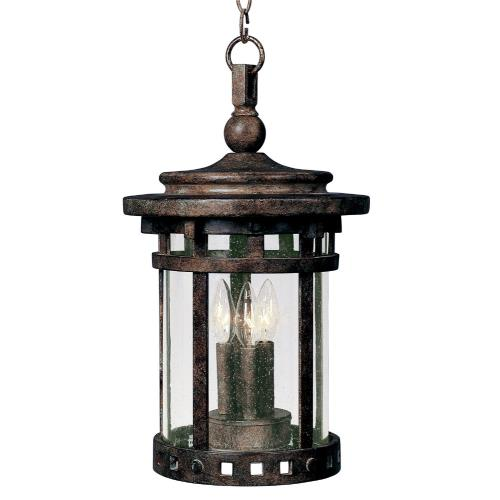 Maxim Lighting 3138 Santa Barbara DC-Three Light Outdoor Hanging Lantern in Craftsman style-9 Inches wide by 17.5 inches high