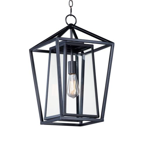 Maxim Lighting 3178CLBK Artisan - 1 Light Outdoor Hanging Lantern in Builder style - 12 Inches wide by 20.5 inches high