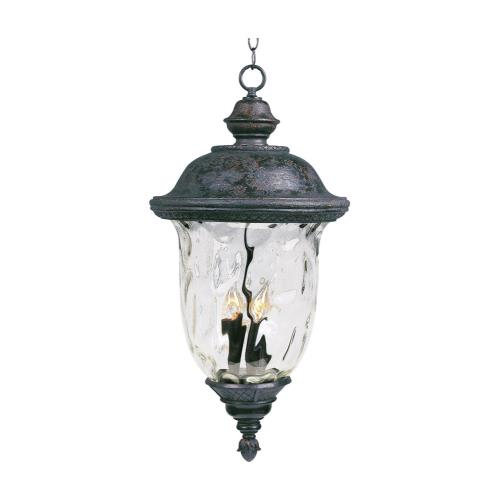 Maxim Lighting 3427 Carriage House DC-Three Light Outdoor Hanging Lantern in Early American style-12.5 Inches wide by 24.5 inches high