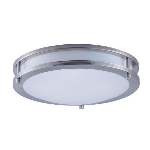 Maxim Lighting 55542WTSN Linear-15W 1 LED Flush Mount-12 Inches wide by 3.25 inches high