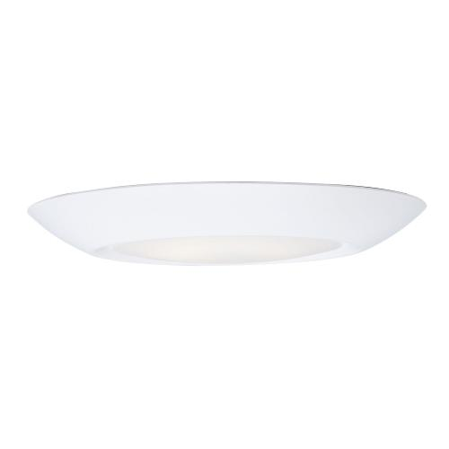Maxim Lighting 57652WTWT Diverse-12.5W 1 LED Flush Mount in Commodity style-7.5 Inches wide by 0.75 inches high