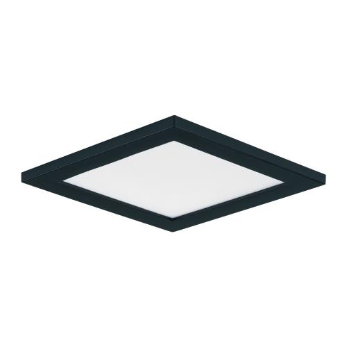 Maxim Lighting 57720WTBK Wafer-10W 1 LED Squre Wall/Flush Mount in Contemporary style-4.5 Inches wide by 0.5 inches high
