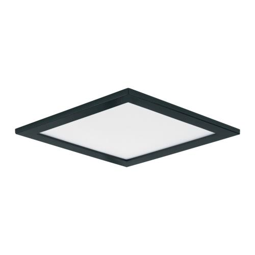 Maxim Lighting 57722WTBK Wafer-15W 1 LED Square Wall Flush Mount in Contemporary style-6.25 Inches wide by 0.5 inches high
